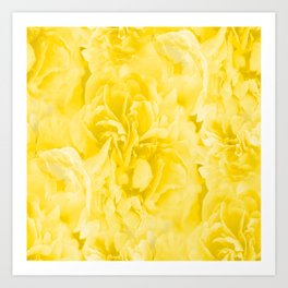 Yellow Peony Petals in Close-up #decor #society6 #buyart Art Print