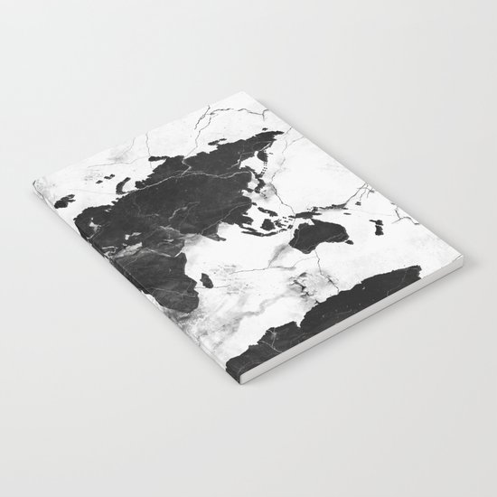 world map marble 3 Notebook