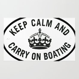 Keep Calm and Carry on boating Rug