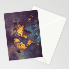 world map 2 2020 #map #travel Stationery Cards