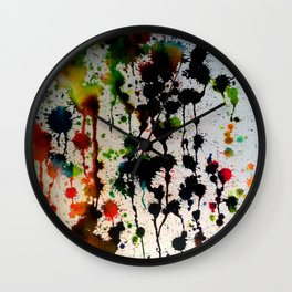 Dripping Color Wall Clock