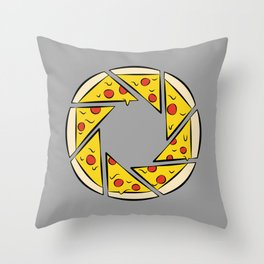 Pizzaperture Throw Pillow