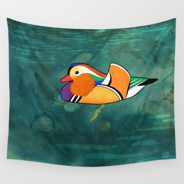 Mandarin Duck (Aix galericulata) Wall Tapestry