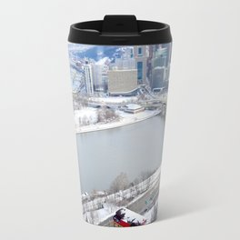 Pittsburgh point and incline in winter 22 Travel Mug