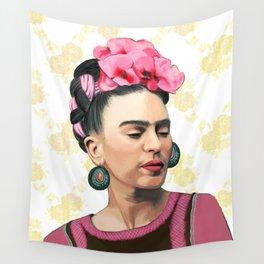 Pink Frida Wall Tapestry