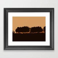 Harvey's Neck Sunset Framed Art Print