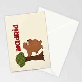 MADRID: Bear and Madrono (v.2) Stationery Cards