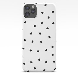 Little Black Hearts iPhone Case