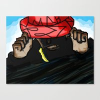 hip hop Canvas Prints featuring Hip/Hop by Hezron Henry