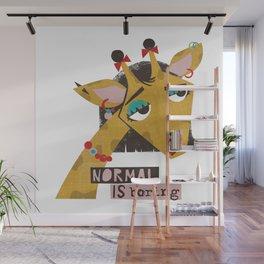 Stylish giraffe Wall Mural