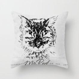 Mr Red's Catt Throw Pillow