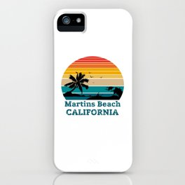 Martins Beach CALIFORNIA iPhone Case