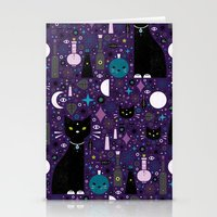 kittens Stationery Cards featuring Halloween Kittens  by Carly Watts