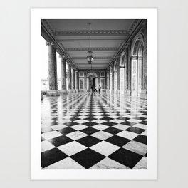Versailles Black and white tiles Art Print