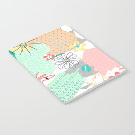 Modern creative abstract floral paint Notebook