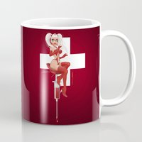 nurse Mugs featuring Nurse Candy by irmino/Pin-oops !