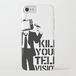 Kill Your TV! iPhone Case