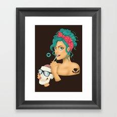 Love my NERD Framed Art Print