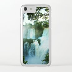 Wonderful Waterfall Clear iPhone Case