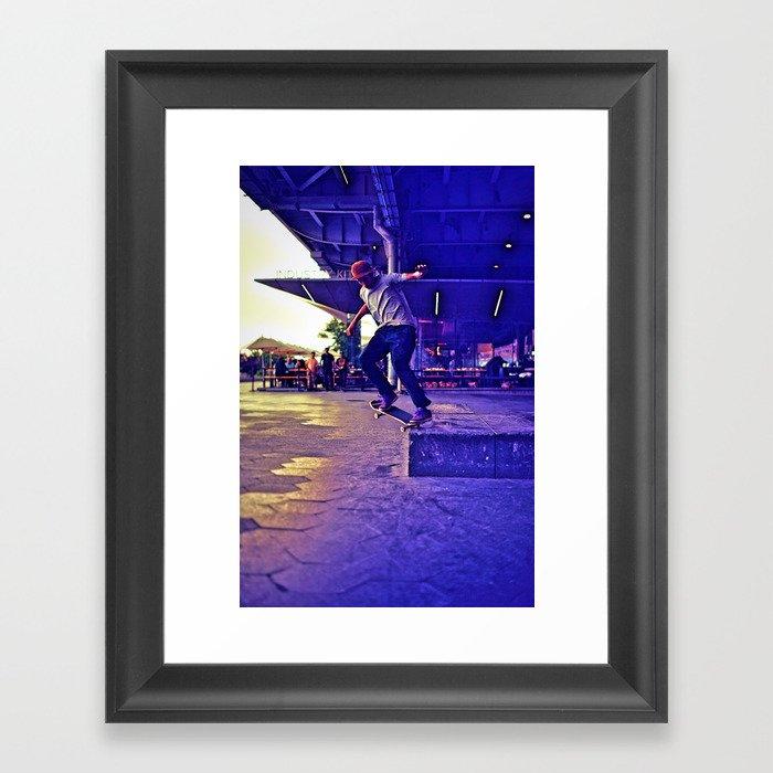 Colorful Skater Gerahmter Kunstdruck