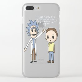 Anime Rick T-Shirt Clear iPhone Case
