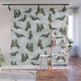 Kea New Zealn bird pattern Wall Mural
