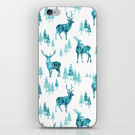 Ice Forest Deer iPhone Skin