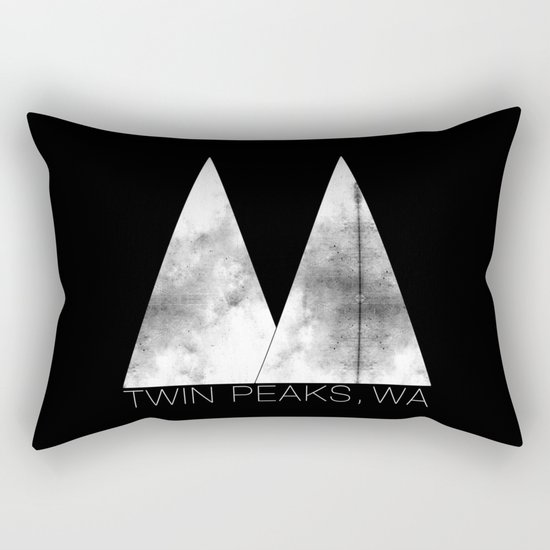Twin Peaks, WA (White Lodge) Rectangular Pillow