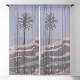 Autumnal Air around the Palm Tree Sheer Curtain