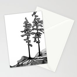 Northern Pines Stationery Cards