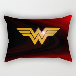 WonderWoman emblem insígnia Wonder, Red, Gold, Diana Prince, warrior princess of the Amazons Rectangular Pillow