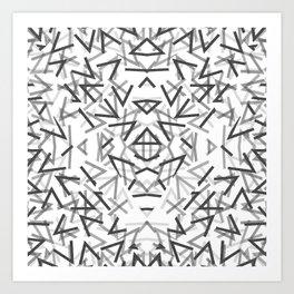 Black Thorns Pattern Art Print