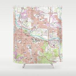 Vintage Map of Eugene Oregon (1967) Shower Curtain