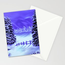 Moon Over The Mountain Stationery Cards