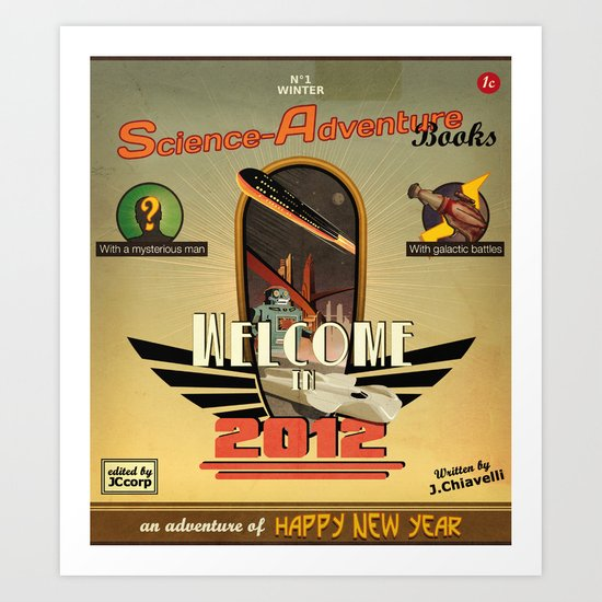 Welcome in 2012 Art Print