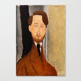 "Amedeo Modigliani ""Portrait of Léopold Zborowski"" Canvas Print"