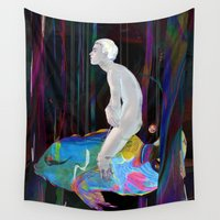 dreamer Wall Tapestries featuring The Dreamer by Archan Nair