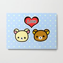 Bear Love Metal Print