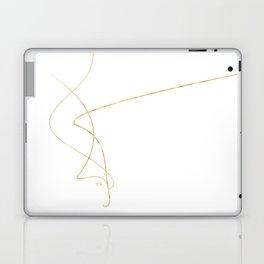 Kintsugi 2 #art #decor #buyart #japanese #gold #white #kirovair #design Laptop & iPad Skin