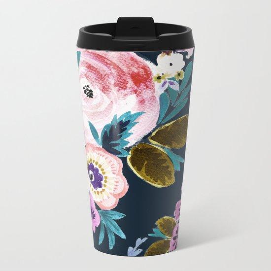 Moody Victoria Flower Metal Travel Mug