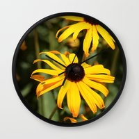 dentist Wall Clocks featuring Happy Flowers by IowaShots