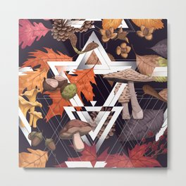 Fall Foliage Shape Metal Print