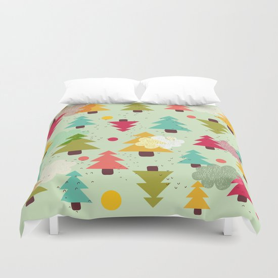 TREES UPSIDE DOWN Duvet Cover