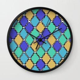 Wavy Diamonds Wall Clock