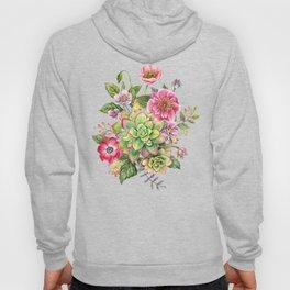 Watercolor Succulents #47 Hoody