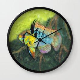 Blue Ram in Nature Wall Clock