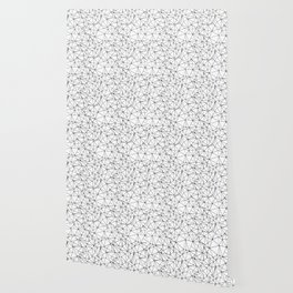 Mosaic Triangles Repeat Seamless Pattern Black and White Wallpaper
