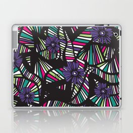 Lined Art Floral Laptop & iPad Skin