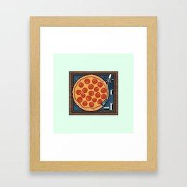 Pizza Record Player Framed Art Print
