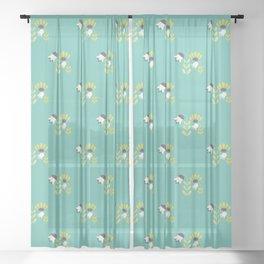 Spring Tulips Sheer Curtain